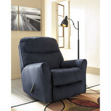 Signature Design by Ashley Cossette Rocker Recliner in Midnight Fabric