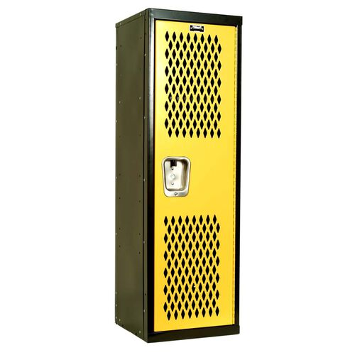 Our Home Team Locker - Unassembled - Black Body and Yellow Door - 15