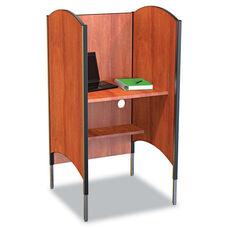BALT® Height-Adjustable Carrel - Laminate - 31w x 30d x 57-1/2 to 69-1/2h - Cherry