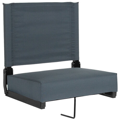 Our Grandstand Comfort Seats by Flash with Ultra-Padded Seat in Dark Blue is on sale now.