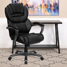 High Back Black LeatherSoft Executive Swivel Ergonomic Office Chair with Arms