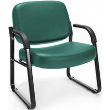Big & Tall Guest and Reception Vinyl Chair with Arms - Teal