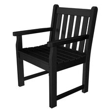 POLYWOOD® Traditional Collection Garden Arm Chair - Black