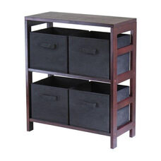 Capri 2-Tier Shelf with Black Baskets