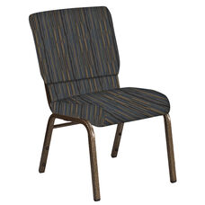 Embroidered 18.5''W Church Chair in Canyon Sky Fabric - Gold Vein Frame