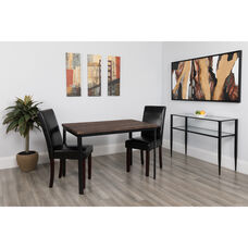 "Avalon 30"" x 45.75"" Rectangular Dining Table in Espresso Wood Finish"