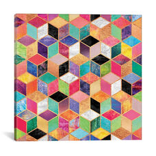 Colorful Cubes by Elisabeth Fredriksson Gallery Wrapped Canvas Artwork