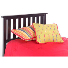 Belmont Traditional Slated Wood Headboard - Full or Queen - Black