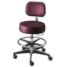 Century Series Stool w/ Backrest and Round Foot Ring