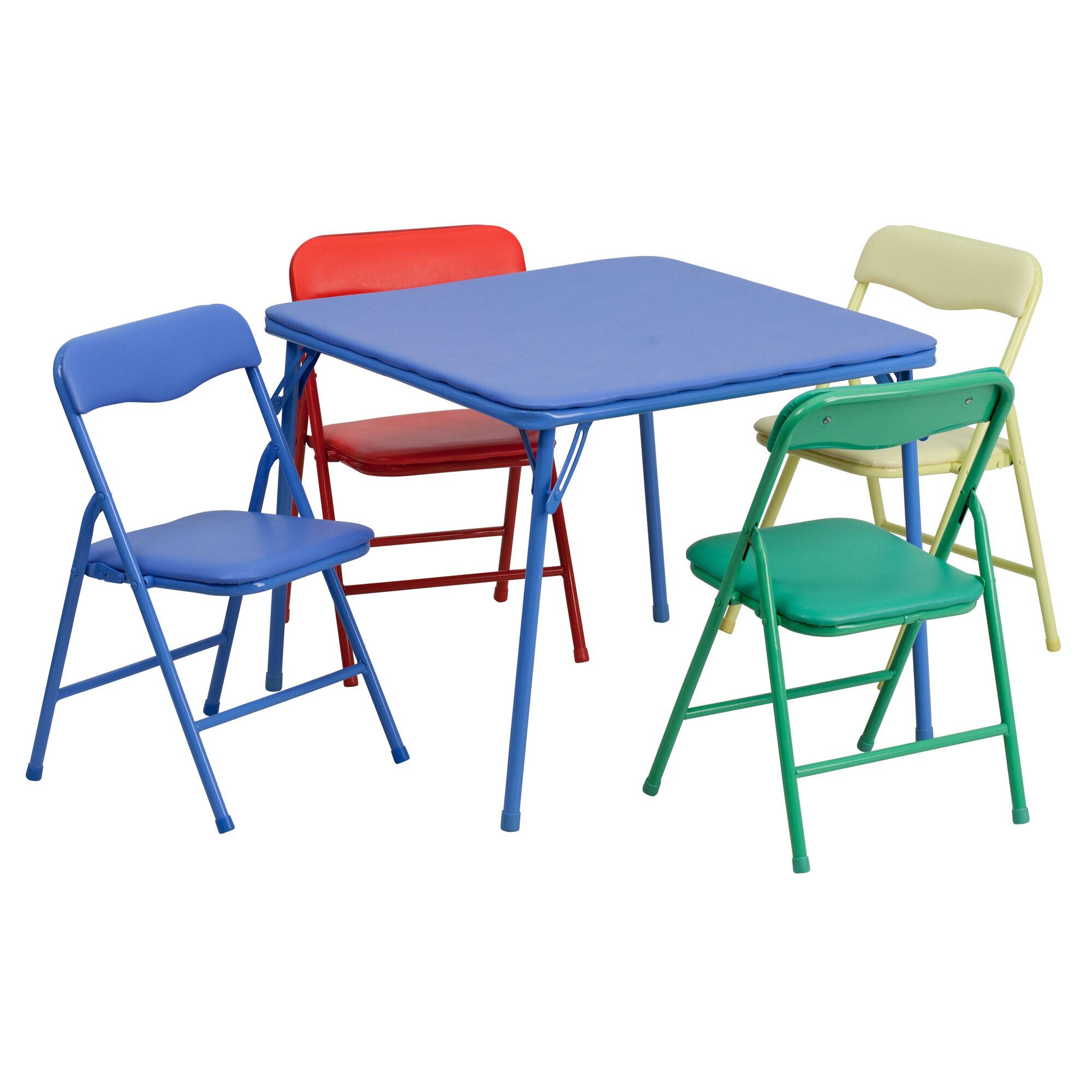 Colorful Kid Folding Table Set Jb 9 Kid Gg Bizchair Com