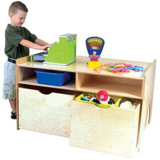 Store-n-Play Table with Safety Rounded Edges and Certified Tuff-Gloss UV Finish - Assembled - 42.5