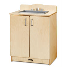 Natural Birch Play Kitchen Sink with Pull-Out Sprayer - 20
