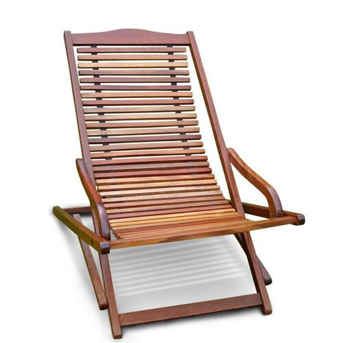 Our Malibu Outdoor Wood Folding Lounge Armchair Is On Sale