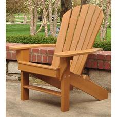 Seaside Recycled Plastic Adirondack Chair in Cedar