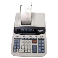 Victor Technology 12 Digit Desktop Calculator -2 Color Printing -8