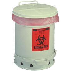 SoundGard™ 10 Gallon Biohazard Waste Cans - White