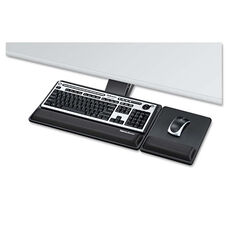 Fellowes® Designer Suites Premium Keyboard Tray - 19w x 10-5/8d - Black