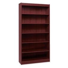 Lorell 6 Shelf Panel Bookcase - 36