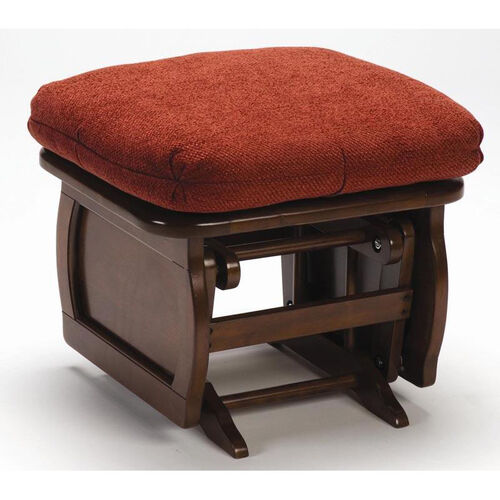 Maple Wood Ottoman with Cornice Frame Side Panel - Heritage Cherry Finish