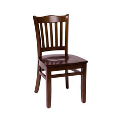 Princeton Walnut Wood School Chair - Wood Seat