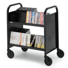Voyager Double Sided Short Book Truck - 28