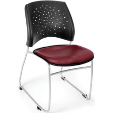 Stars Stack Chair with Vinyl Seat - Wine