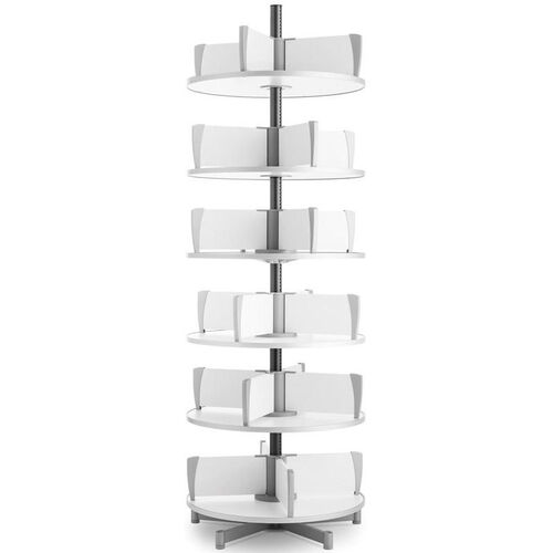 Moll 6 -Tier Rotary Floor Stand Binder Carousel - White