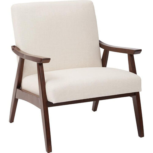 Our Ave Six Davis Fabric Accent Chair - Linen and Medium Espresso is on sale now.