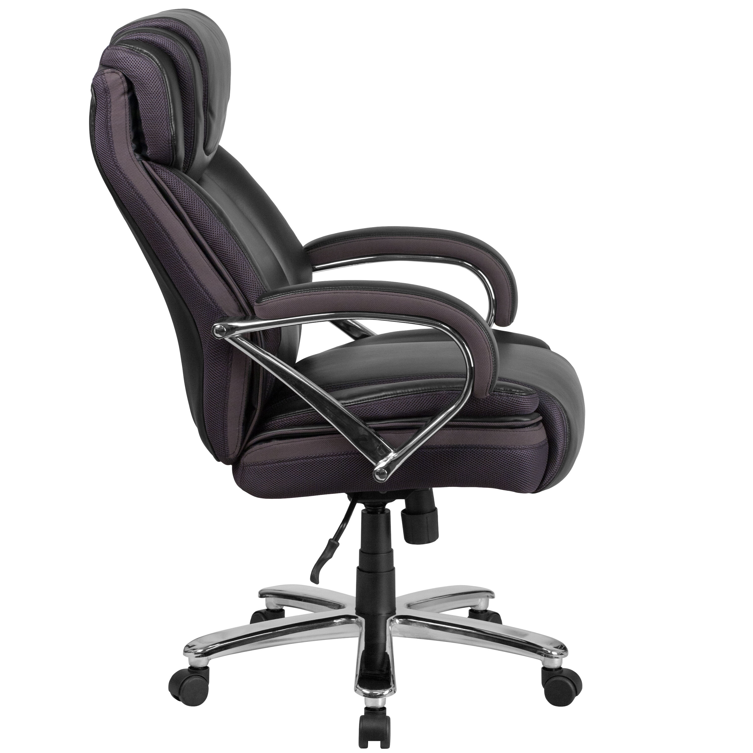 Rated Black Leather Executive Swivel Chair With ...