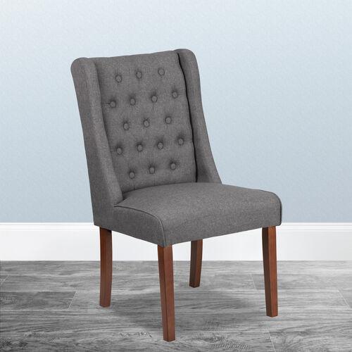 HERCULES Preston Series Gray Fabric Tufted Parsons Chair