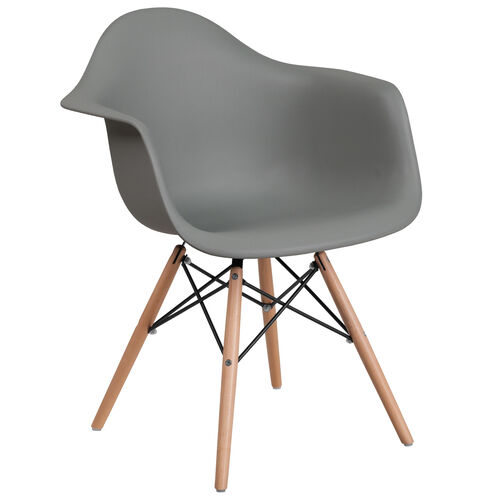 Our Alonza Series Moss Gray Plastic Chair with Wooden Legs is on sale now.