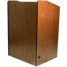 Multimedia Non-Sound Presentation Podium - Walnut Finish - 33