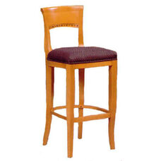 6741 Bar Stool w/ Upholstered Web Seat w/ Brass Trim on Foot Rest - Grade 1