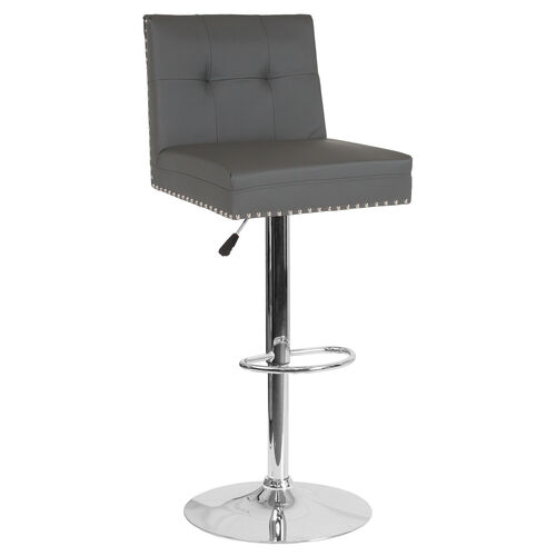 Our Ravello Contemporary Adjustable Height Barstool with Accent Nail Trim in Gray Leather is on sale now.