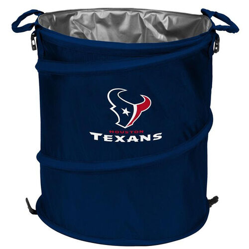 Our Houston Texans Team Logo Collapsible 3-in-1 Cooler Hamper Wastebasket is on sale now.