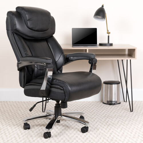 HERCULES Series Big & Tall 500 lb. Rated LeatherSoft Executive Swivel Ergonomic Office Chair with Height Adjustable Headrest
