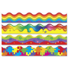 Trend Enterprises Color Blast Bolder Borders Variety Pack