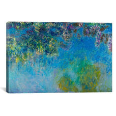 Wisteria by Claude Monet Gallery Wrapped Canvas Artwork