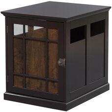 Neal Dog Crate with Wood Slats - Dark Espresso
