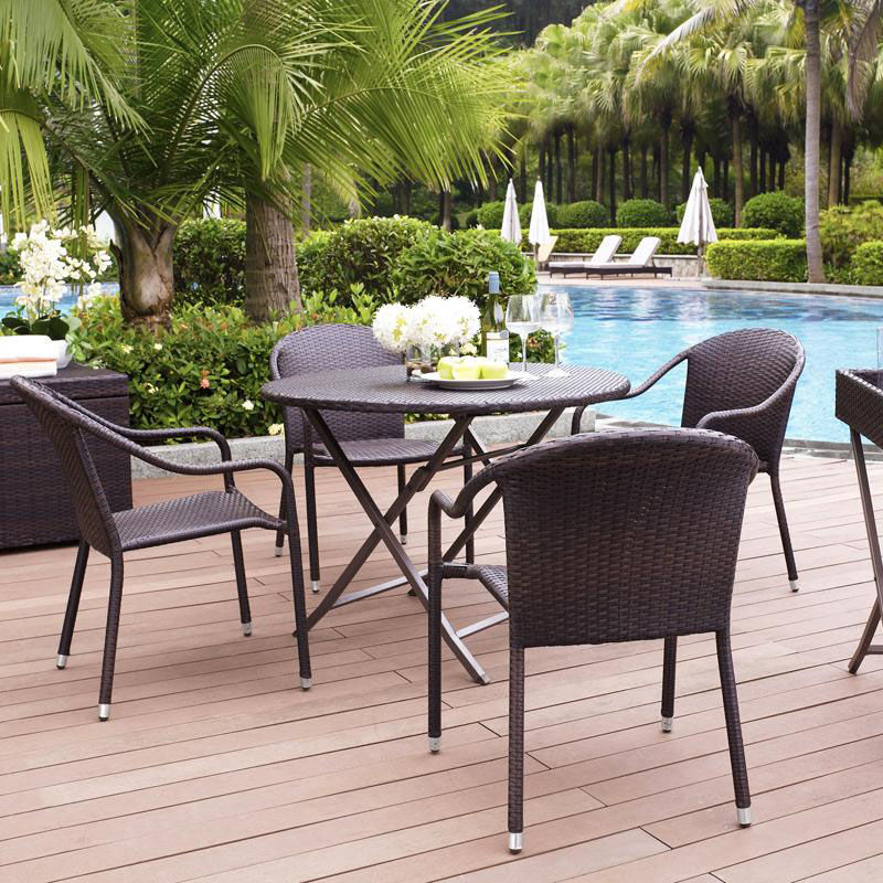 Our Palm Harbor 5 Piece Cafe Dining Set: Table And Four Stackable Chairs Is  On