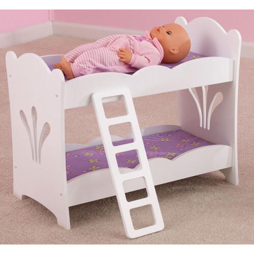 Our Lil Doll Wooden Bunk Bed with Bedding for up to 19