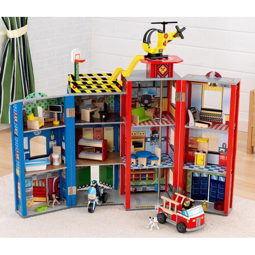 Our Kids Wooden Fire and Police Everyday Heroes Foldable Play Set Includes 7 Pieces is on sale now.