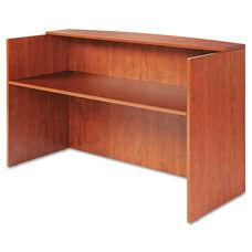 Alera® Valencia Series Reception Desk w/Counter - 71w x 35 1/2d x 42 1/2h - Medium Cherry