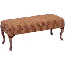 506 Bench w/ Upholstered Web Seat & Queen Anne Legs - Grade 1