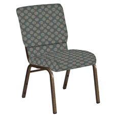 18.5''W Church Chair in Cirque Olive Fabric - Gold Vein Frame