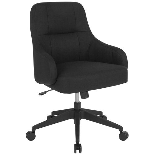 Our Dinan Home and Office Upholstered Mid-Back Chair in Black Fabric is on sale now.