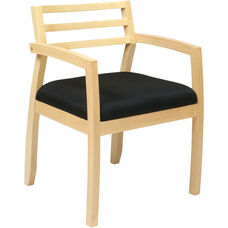 OSP Furniture Napa Guest Chair with Wood Back - Maple