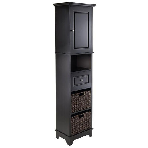 Wyatt Tall Cabinet with Baskets, Drawer, and Door