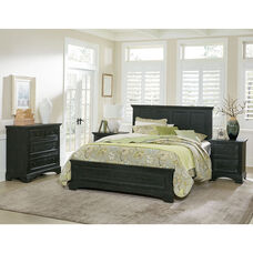 Inspired By Bassett Farmhouse Basics King Bedroom Set with 2 Nightstands, 1 Chest, and 1 Vanity and Bench