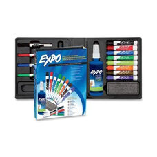 Sanford Brands Deluxe E x po 2 Low -Odor Dry -erase Marker Kit - Assorted Colors